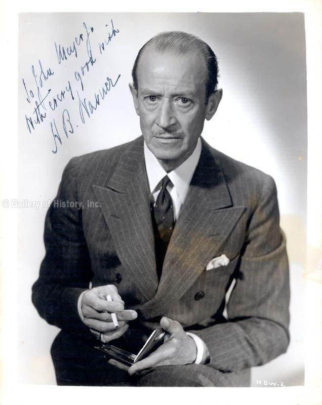 H. B. Warner Henry Byron H B Warner Inscribed Photograph Signed Circa 1944