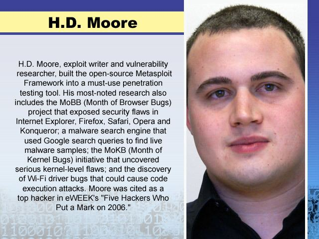 H. D. Moore Page 5 Hackers We Love Security News amp Reviews