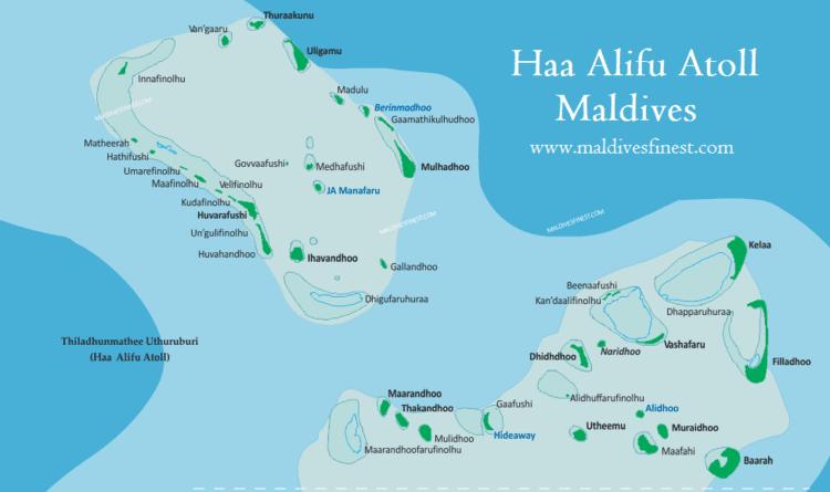 Haa Alif Atoll Haa Alifu Atoll maps and resorts Maldives Map Org