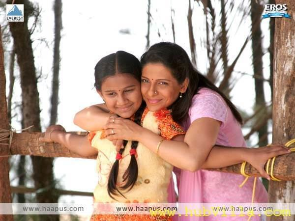 Haapus movie scenes Madhura Velankar Satam and Swarasha Jadhav in A Scene of upcoming Marathi movie Haapus