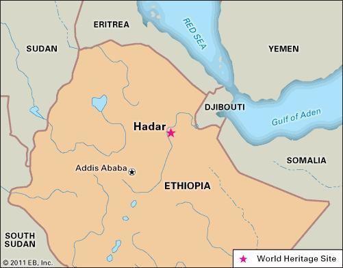Hadar, Ethiopia Hadar anthropological and archaeological site Ethiopia