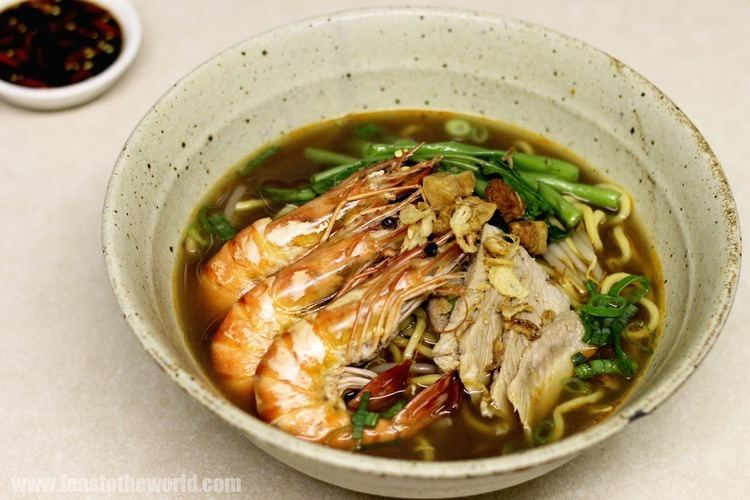 Hae mee FEAST to the world Hokkien Prawn Noodles Soup Hae Mee