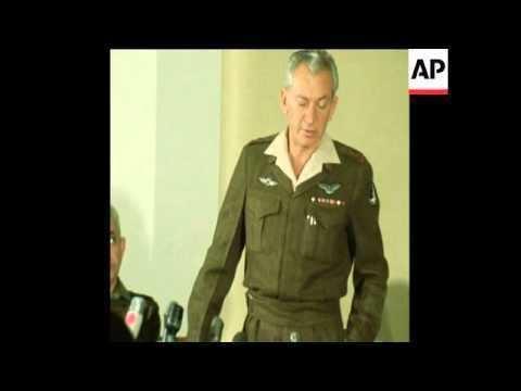 Haim Bar-Lev SYND 30 12 71 GENERAL HAIM BAR LEV SPEAKS AT A PRESS