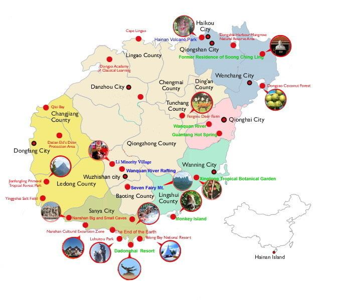 Hainan Tourist places in Hainan