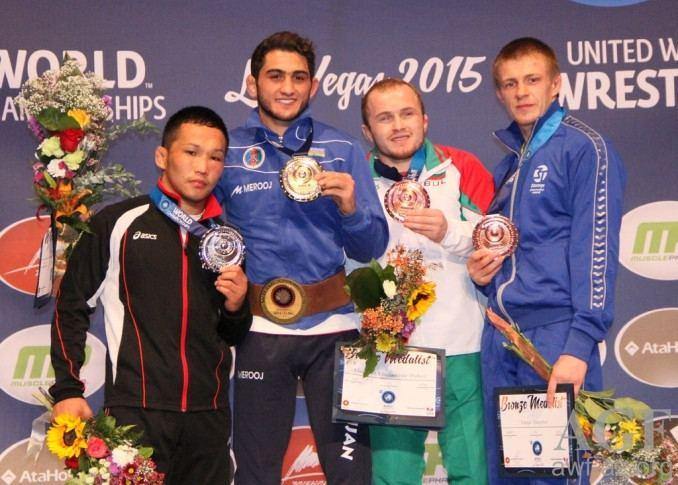 Haji Aliyev Haji Aliyev becomes twotime world wrestling champion Reportaz
