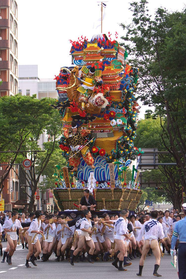 Hakata Gion Yamakasa httpsuploadwikimediaorgwikipediacommons99