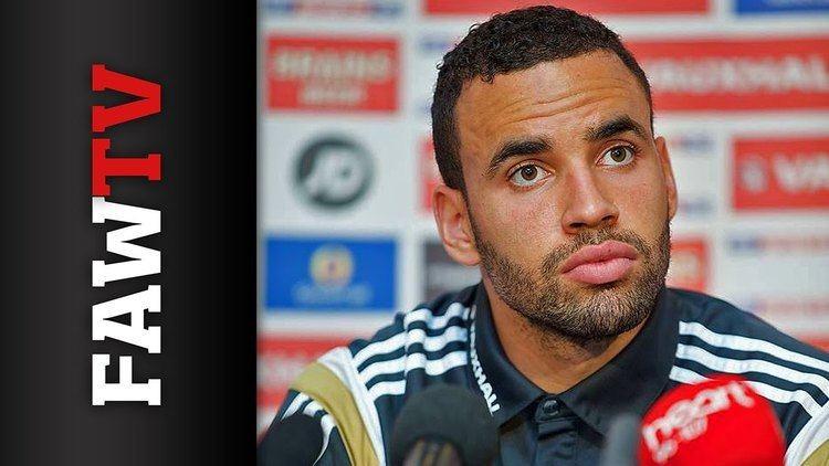 Hal Robson-Kanu Hal RobsonKanu speaks to the press ahead of Belgium