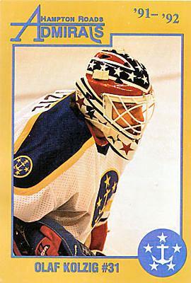 Hampton Roads Admirals Hampton Roads Admirals 199192 Hockey Card Checklist at hockeydbcom