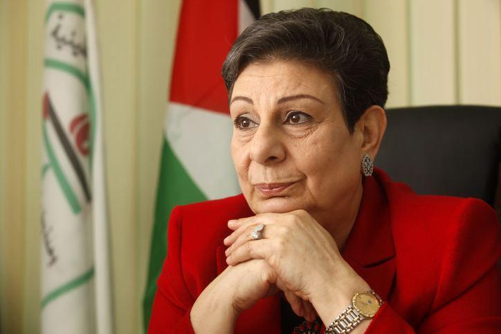 Hanan Ashrawi PLO official Israel asked US out of negotiating room