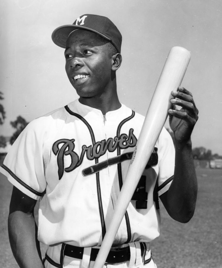 Hank Aaron This Sunday is Hank Aaron Bobblehead Day presented by US