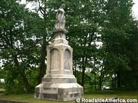 Hannah Duston Hannah Duston Massacre Site Statue Penacook New Hampshire