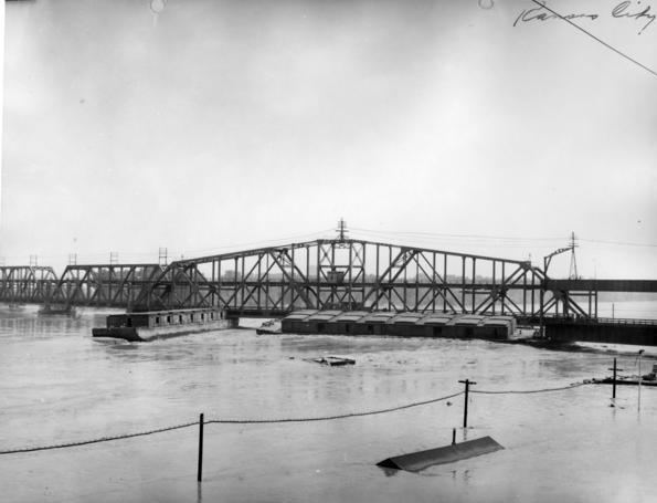 Hannibal Bridge Truman Library Photograph View of Hannibal Bridge on the Kansas