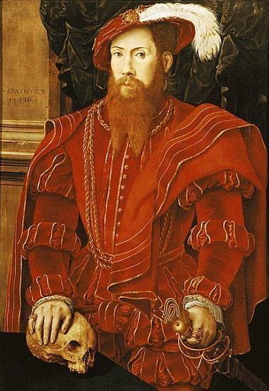 Hans Eworth Portrait of a Gentleman of the English C attr to Hans