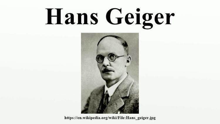Hans Geiger Hans Geiger YouTube
