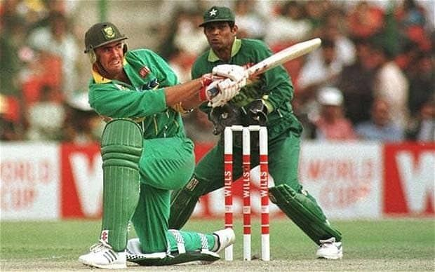 Hansie Cronje (Cricketer) playing cricket