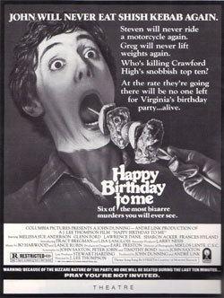 Happy Birthday to Me (film) HAPPY BIRTHDAY TO ME 1981 Review