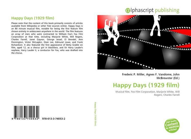 Happy Days (1929 film) Happy Days 1929 film 9786133740532 6133740531 9786133740532