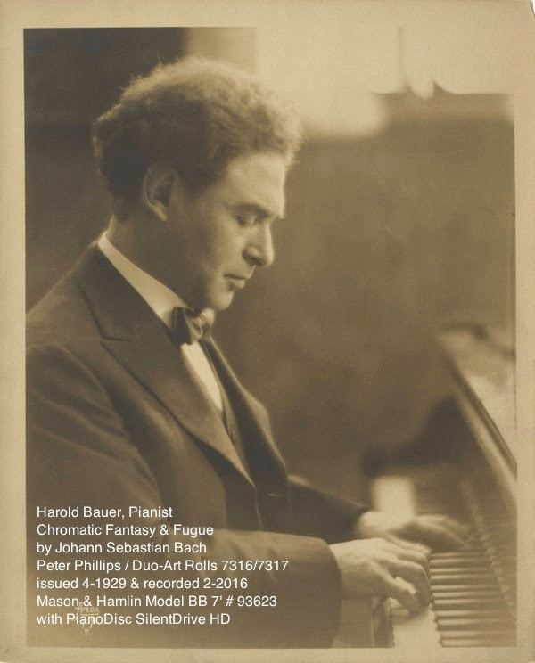 Harold Bauer Harold Bauer Bach Chromatic Fantasy and Fugue in Dm YouTube