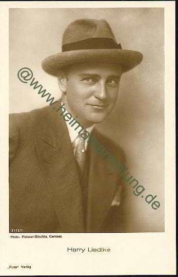 Harry Liedtke HistorischeAnsichtskartenHarryLiedtke