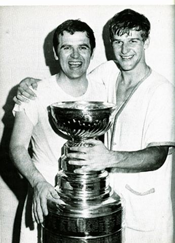 Harry Sinden 1972Stanley Cup Holding The Cup With Coach Harry Sinden Photos