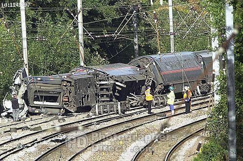 Hatfield rail crash PD Stock photo Hatfield Rail Crash