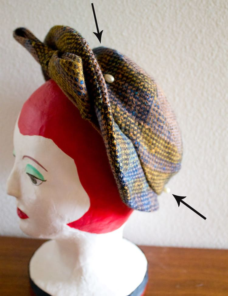 Hatpin Vixen Vintage How to wear a hatpin