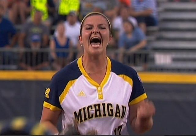 Haylie Wagner Michigan stays alive as Wagner shuts out Florida WXYZcom