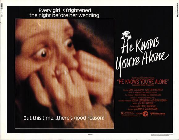 He Knows You're Alone He Knows Youre Alone 1980 HORRORPEDIA
