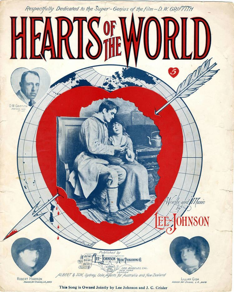 Hearts of the World FileSheet music cover HEARTS OF THE WORLD 1918 variantjpg