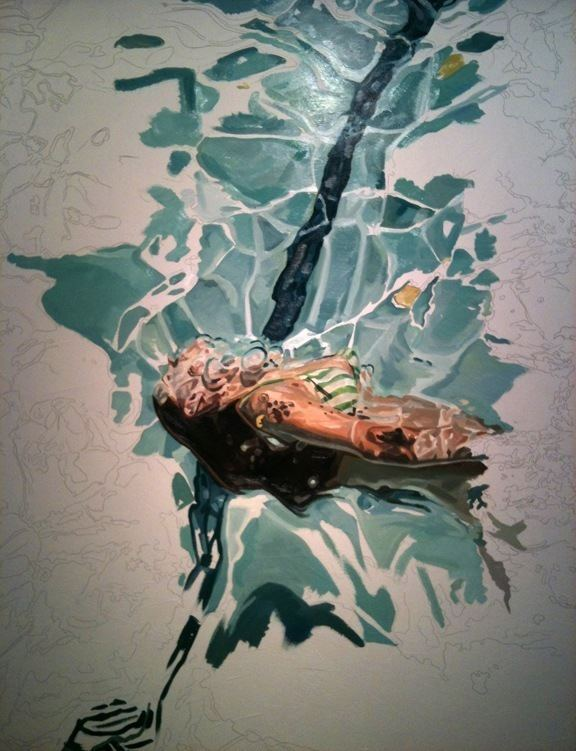 Heather Horton Soothing Paintings of a Swimmer Gliding Through the Water
