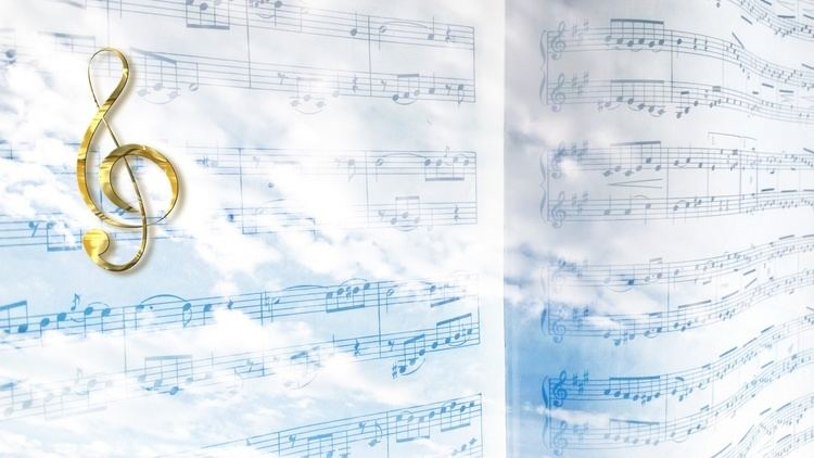 Heavenly Music Heavenly Music With Clef Free Stock Photo Public Domain Pictures