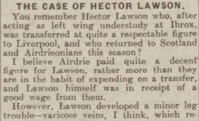 Hector Lawson Hector Stewart Ramsay Lawson Hector Lawson Liverpool Football