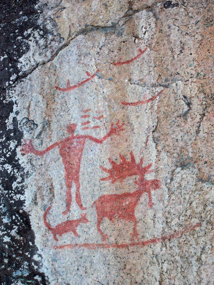 Hegman Lake Pictograph Pictographs at Hegman Lake Boundary Waters Canoe Area Wild Flickr