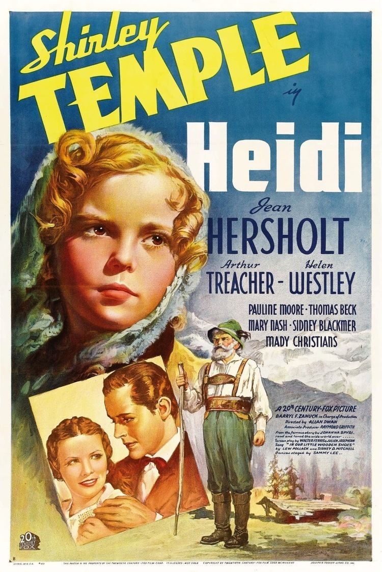 Heidi (1937 film) Heidi 1937 A March Through Film History