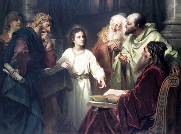 Heinrich Hofmann (painter) Jesus in the Temple 1881 The Life Art of Heinrich Hofmann
