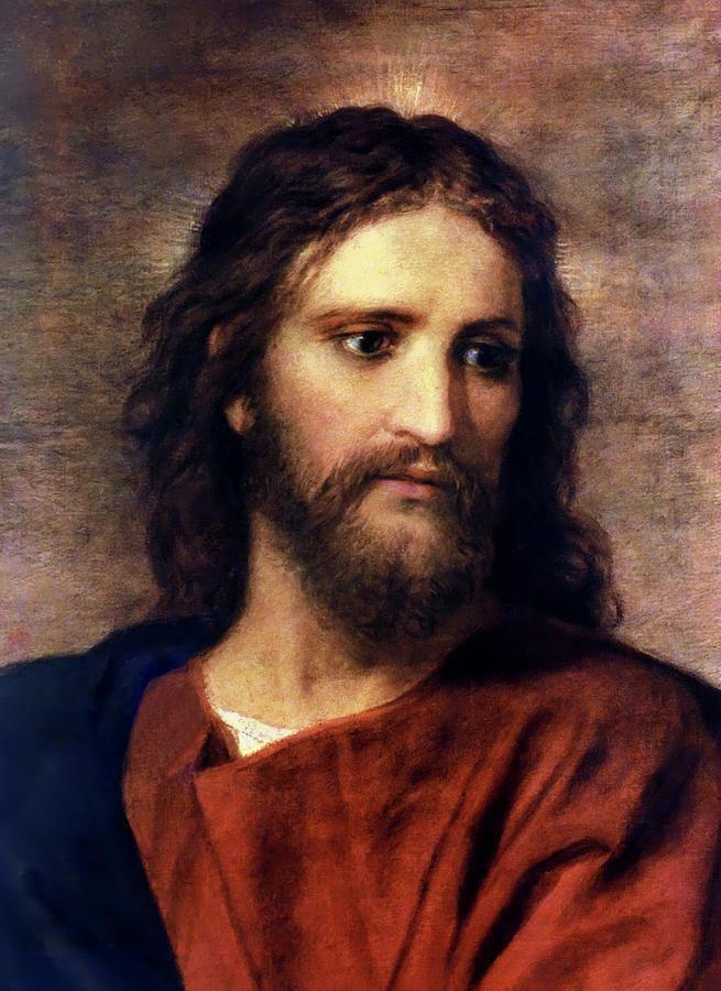 Heinrich Hofmann (painter) Christ At 33 by Heinrich Hofmann