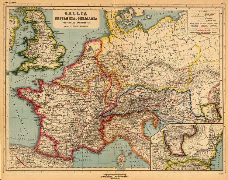 Heinrich Kiepert FileGallia Britannia Germania Provinciae Danuvienses Heinrich