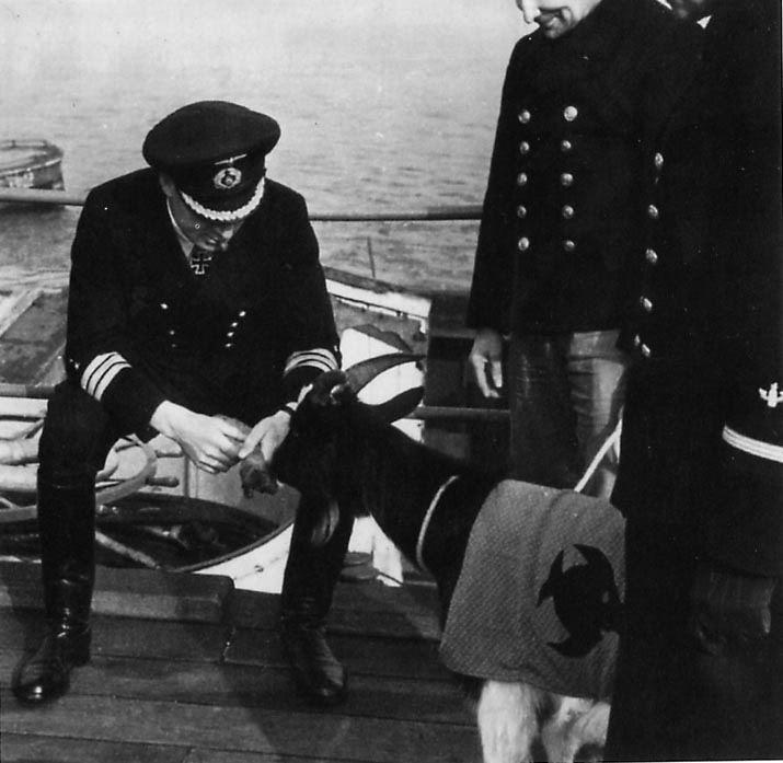 Heinrich Lehmann-Willenbrock LehmannWillenbrock feeding the 9 Flotille at Brest mascot Silent
