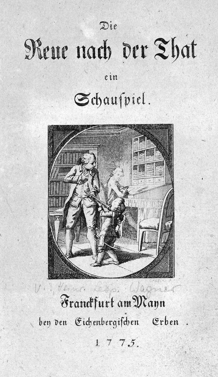 Heinrich Leopold Wagner FileHeinrich Leopold Wagner Die Reue nach der That Titeljpg