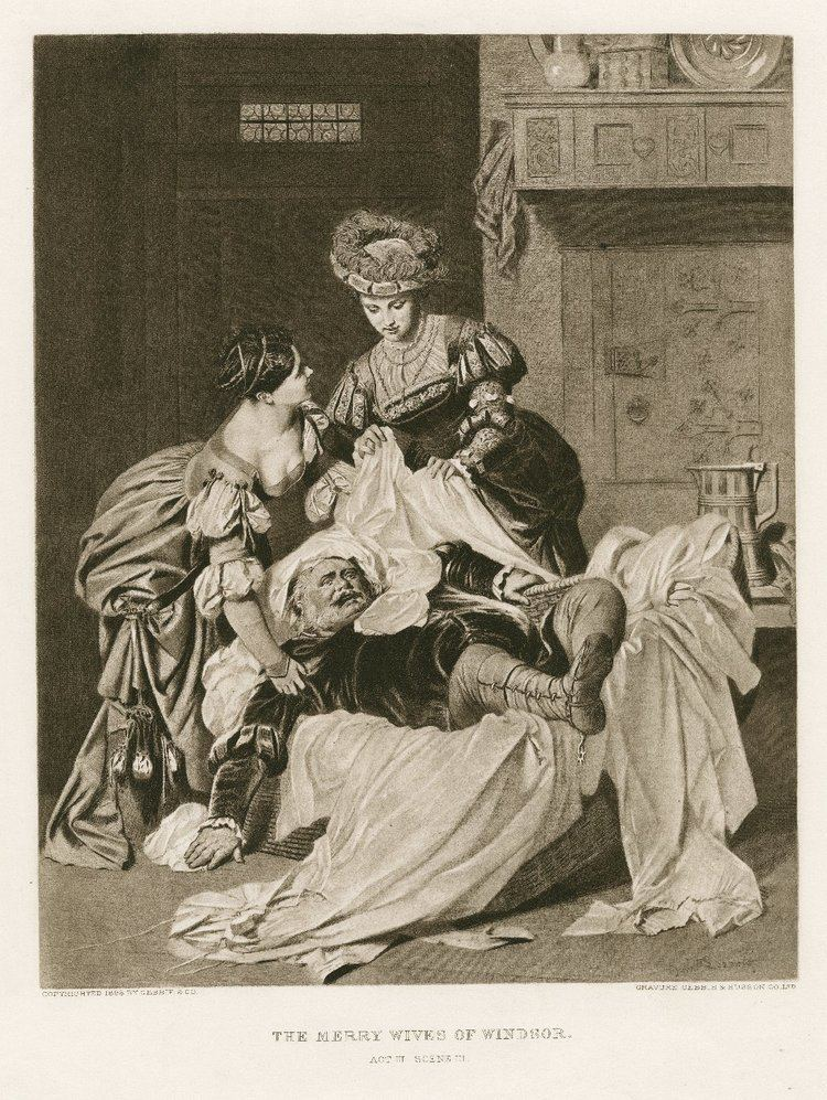 Heinrich Lossow The merry wives of Windsor act III scene III graphic