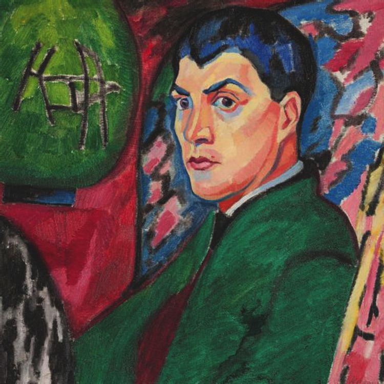 Heinrich Maria Davringhausen Heinrich Maria Davringhausen Selbstportrt mit Lampion 191314
