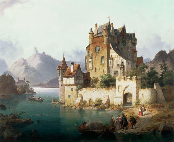 Heinrich von Rustige The Castle Ferry Heinrich von Rustige as art print or hand painted