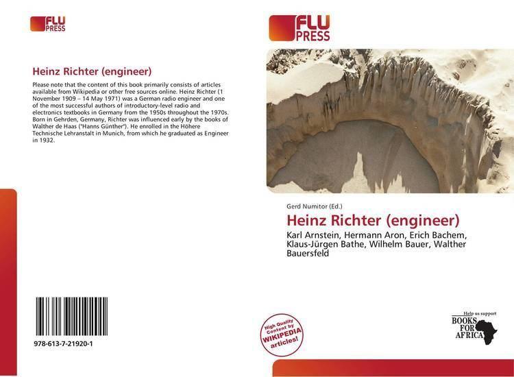 Heinz Richter (engineer) Heinz Richter engineer 9786137219201 6137219208 9786137219201