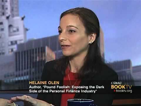 Helaine Olen Book TV After Words Helaine Olen Pound Foolish Part Two YouTube