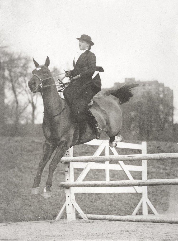 Helen Preece Miss Helen Preece preparing for International Horse Show at Madison