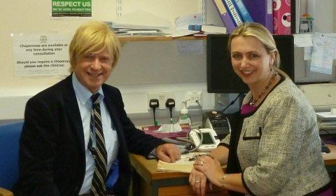Helen Stokes-Lampard Michael Fabricant with Dr Helen StokesLampard Lichfield Live