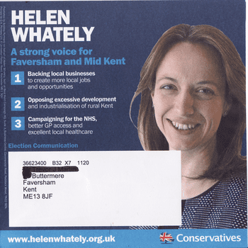 Helen Whately Helen Whately ElectionLeafletsorg