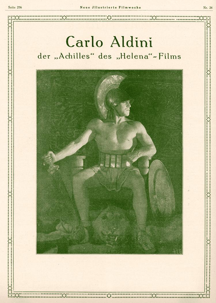 Helena (1924 film) Italian Muscle in Germany in Retrospect Ivo Blom