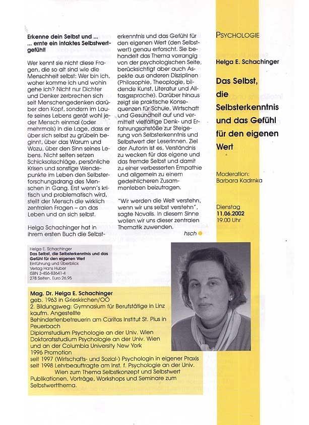Helga Schachinger Willkommen bei Helga Schachinger
