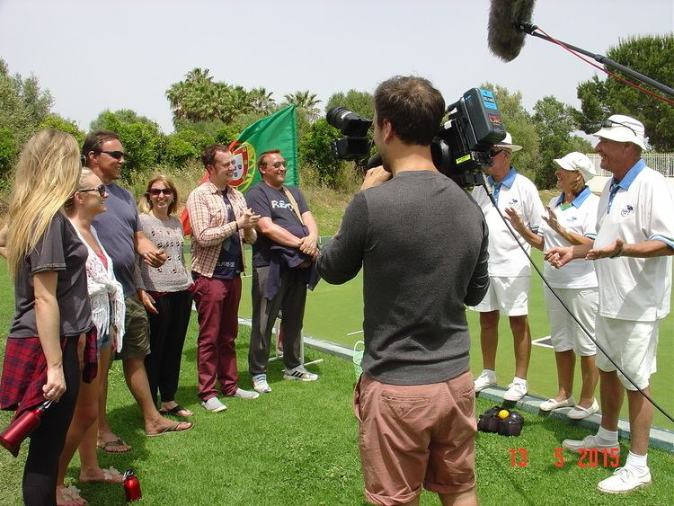 Hello Campers ITV Channel films 39Hello Campers39 program at Balaia Golf Village